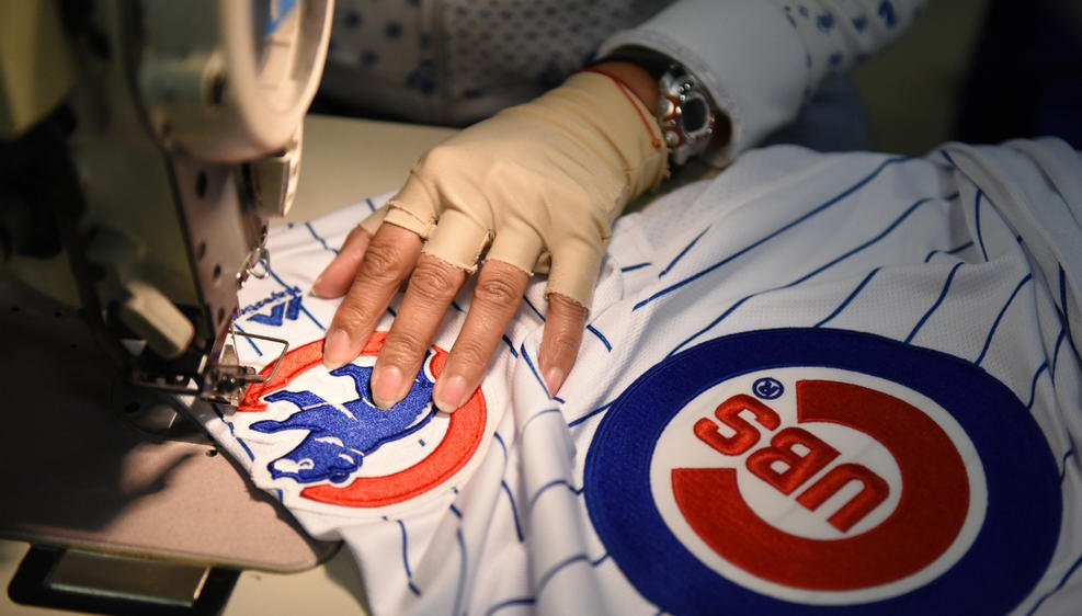 How a Chicago Cubs World Series jersey is made FlyTheW