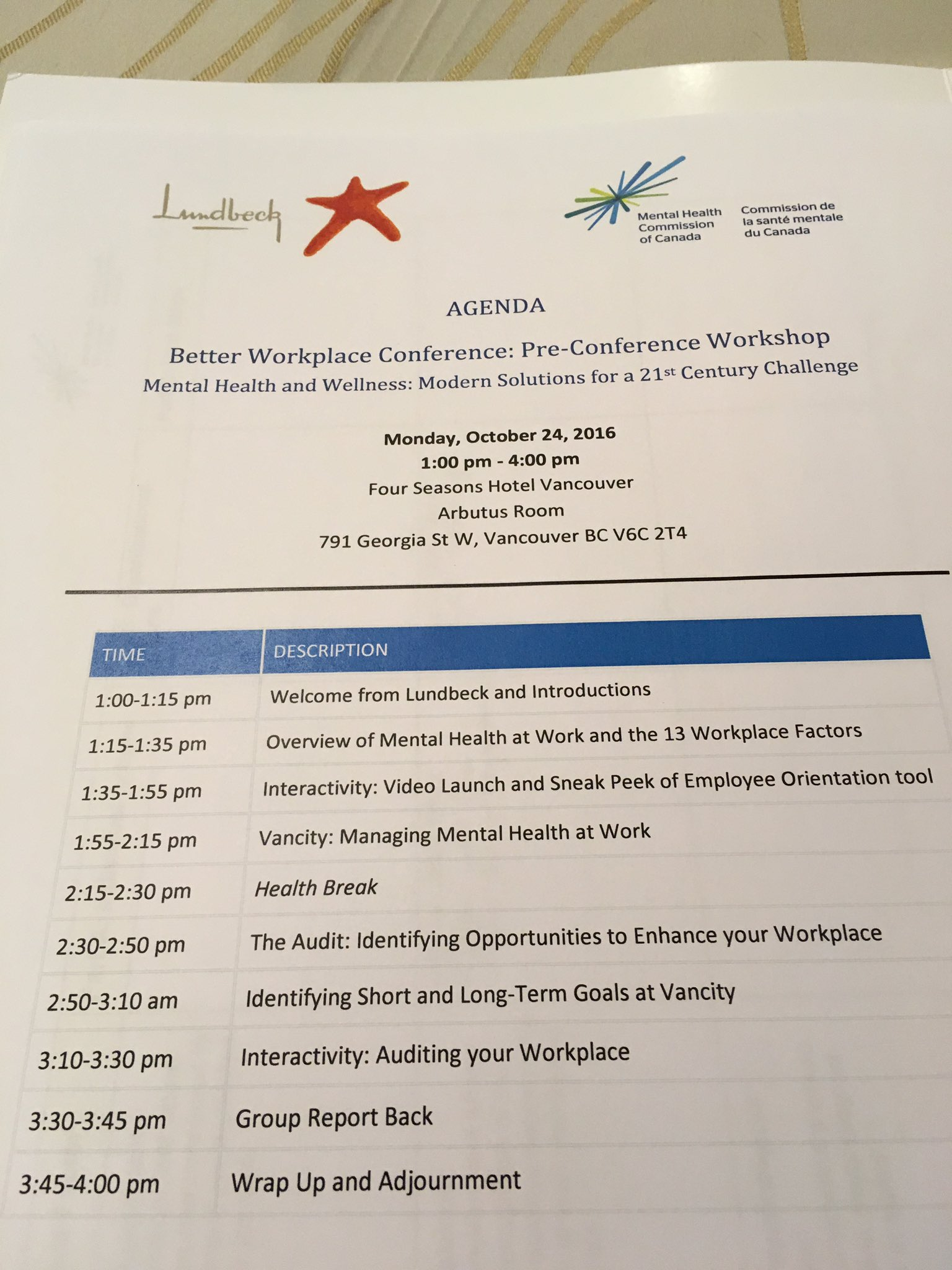 At the pre-conference workshop for The Better Workplace Conference #BWC2016 https://t.co/D50eWPDOev