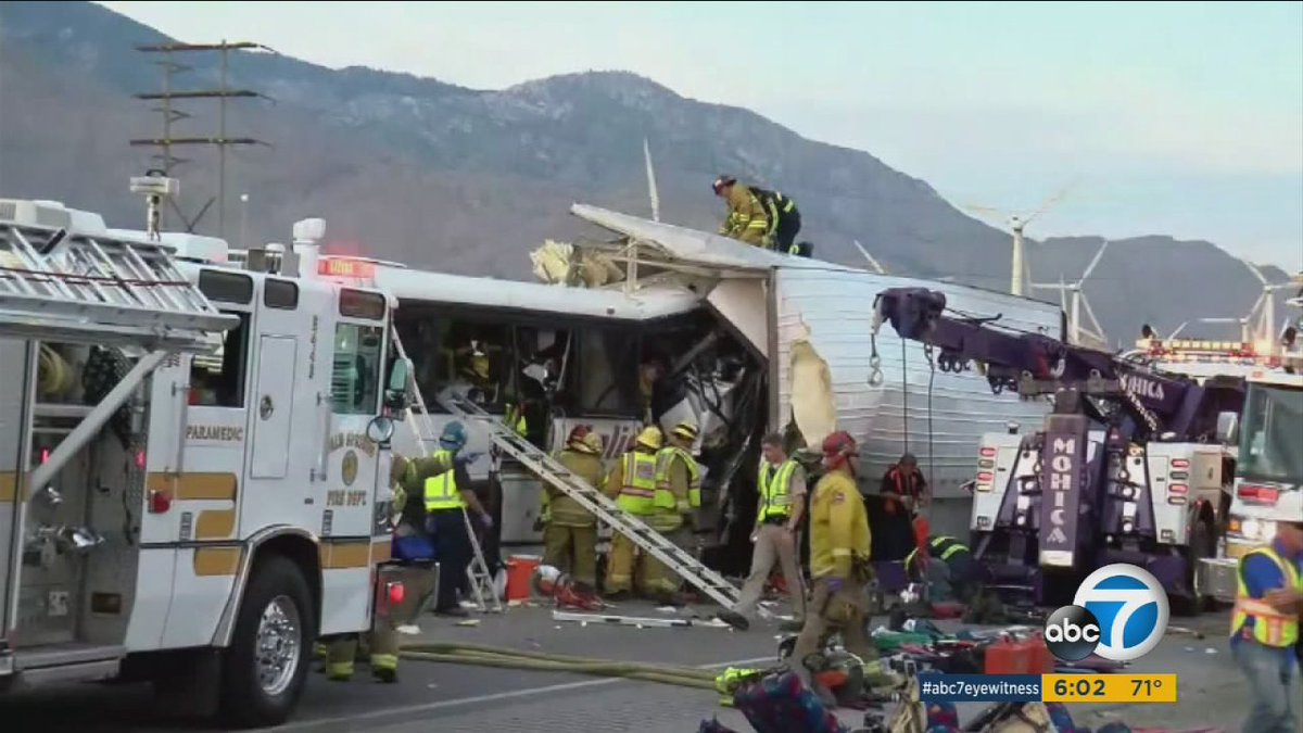 11 of 13 victims identified in fatal tour bus crash near Palm Springs