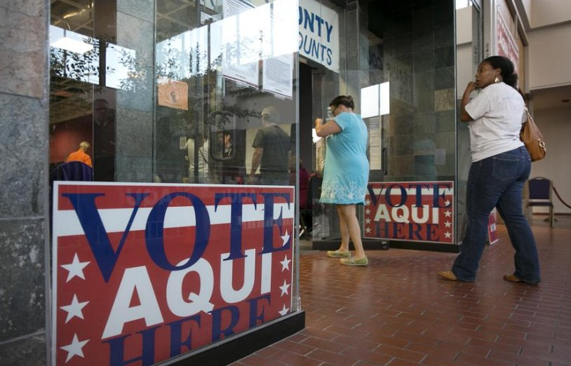 And we're off! Early voting begins in Austin