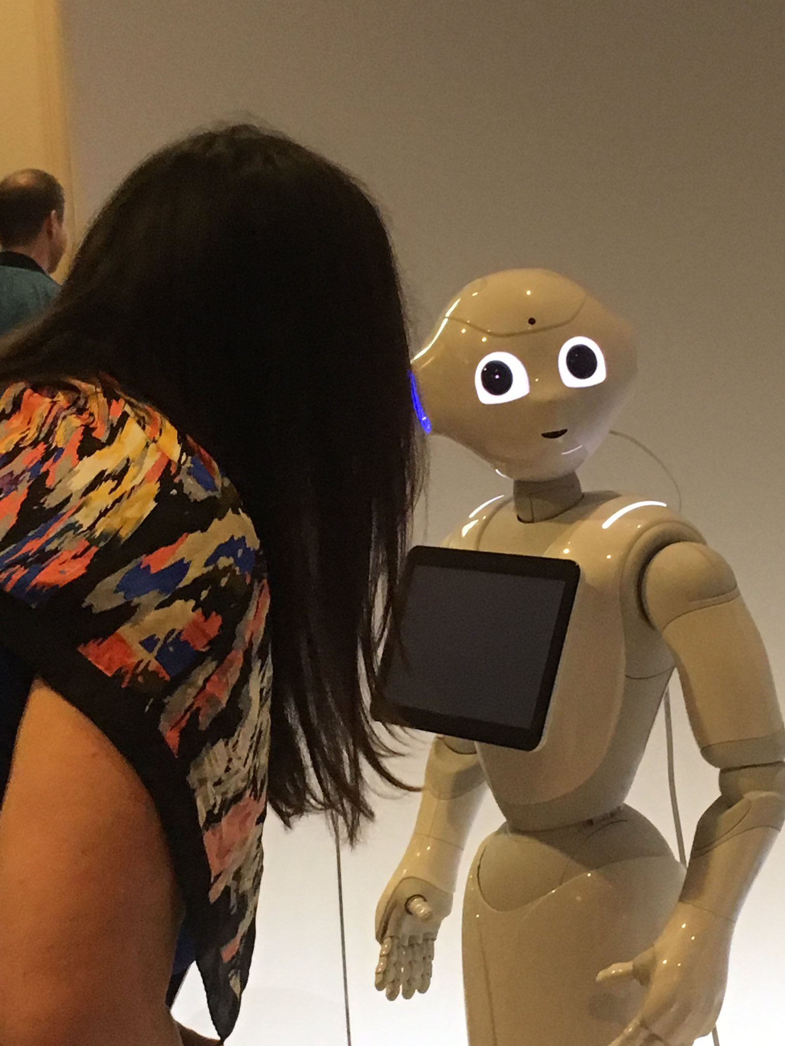 #pepper talking with @annebot at #ibmwow https://t.co/8h1jzZMWV1