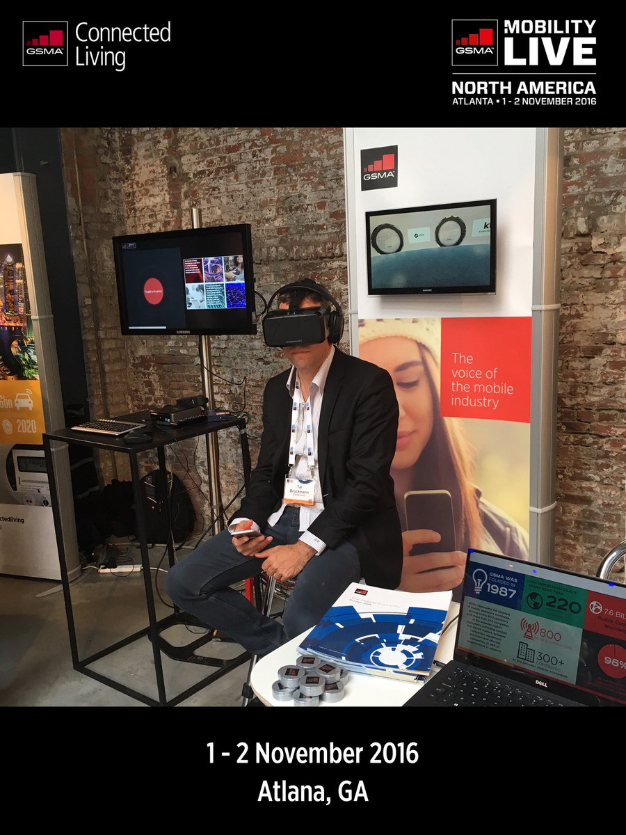 Experience #VR first hand at the #ConnectedLiving booth at #GSMAMobilityLive. Find out more https://t.co/lkH3kWRafV