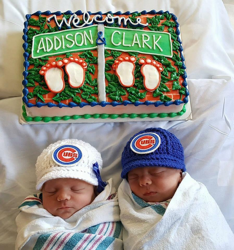 Twin fans Clark and Addison only wait 4 months to see Cubs in World Series