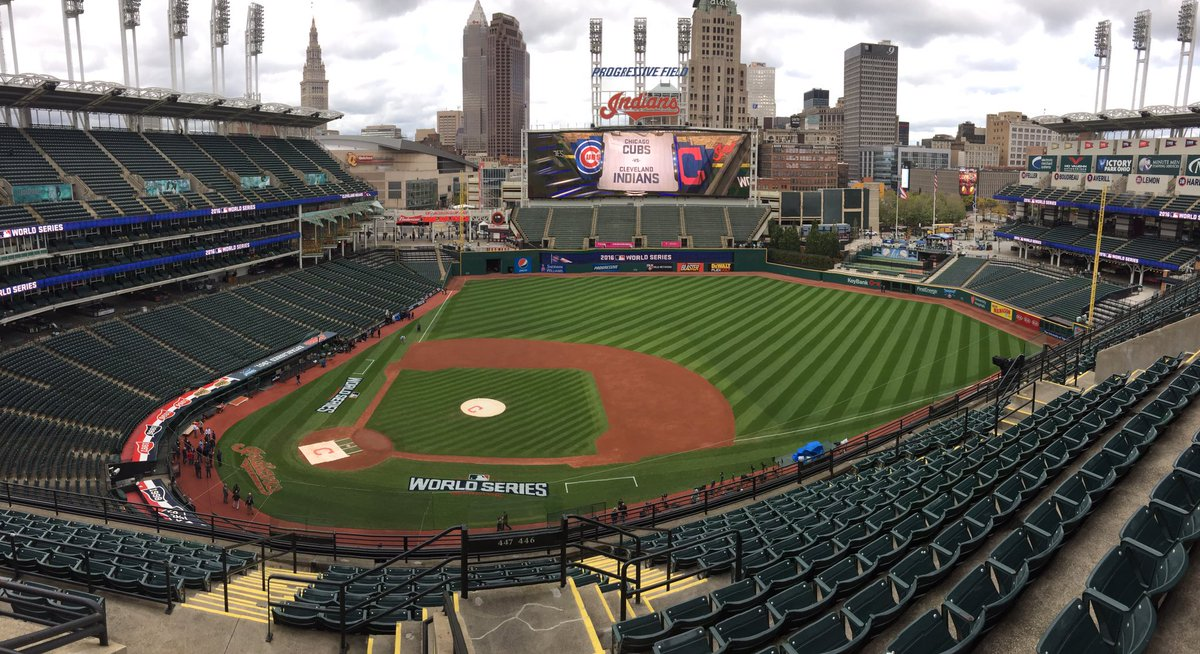 Progressive Field. October 24, 2016. The eve of the Cubs vs. Indians World Series.