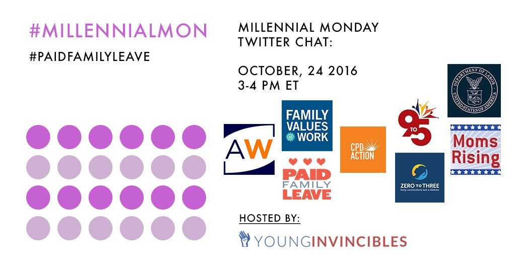 Welcome to #MillennialMon! Today's topic: #PaidFamilyLeave https://t.co/CgIpCmBocN