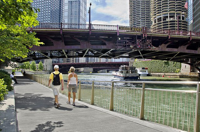 Chicago's Full Downtown Riverwalk Is Now Open For All Your River-Walking Needs