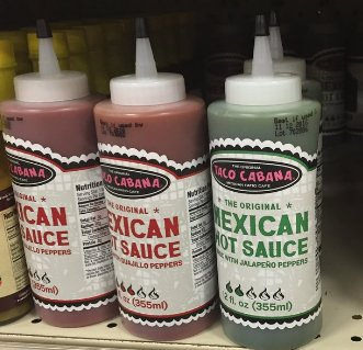 In case you didn't already know, Taco Cabana sauce is available at H-E-B