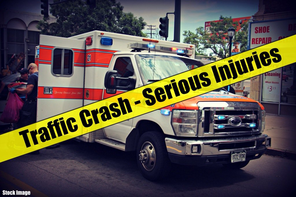 Traffic: 4-vehicle crash SB I-25 south of Yale w/ serious injuries. Left two lanes closed. Expect delays. Denver