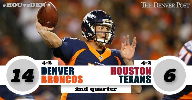 Siemian to D.T. Broncos 14, Texans 6HOUvsDEN Gametracker