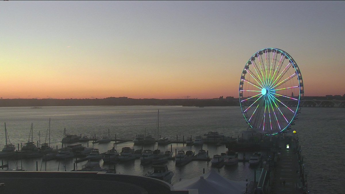 Great view of the Capital Wheel @NationalHarbor tonight.