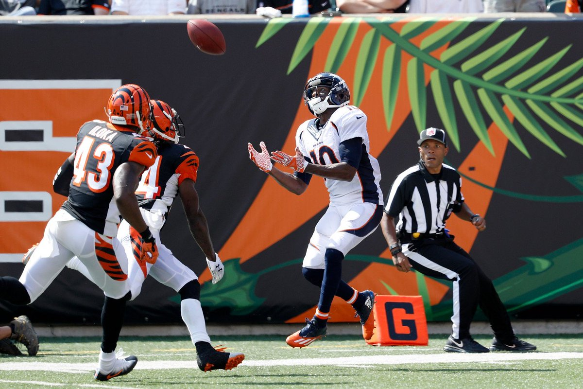Broncos Sanders Catches Career Milestone