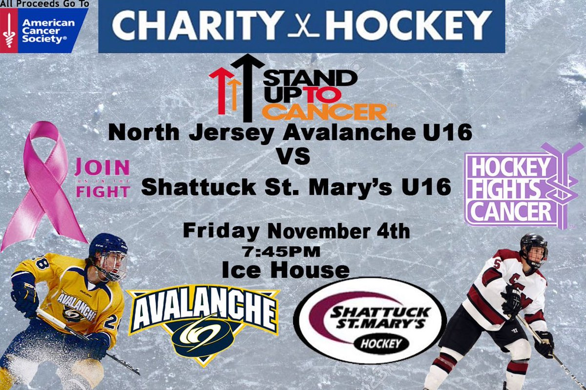 Click on link to Donate to the American Cancer Society.  https   www.crowdrise.com nj-avalanche-16u-national-hockey-team-fundraiser fundraiser lisawarren5  … ... 55b14c42585