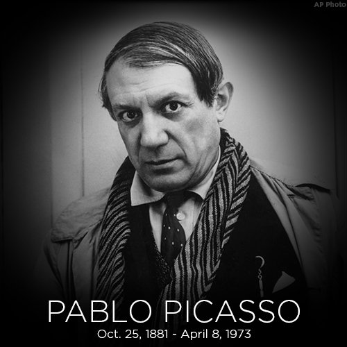 Today we remember artist and Cubism founder Pablo Picasso who was born on this day in 1881.