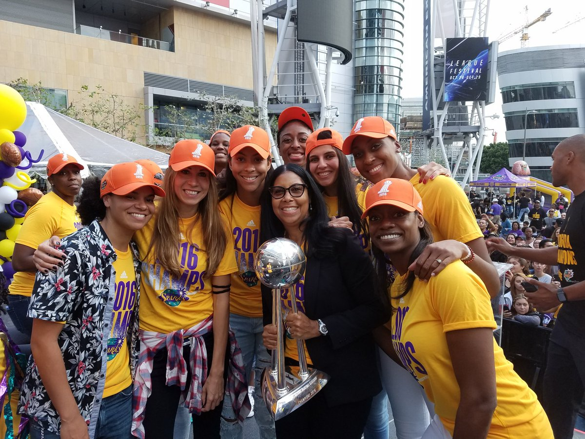 So proud of our @LA_Sparks congrats to the 2016 @WNBA champions