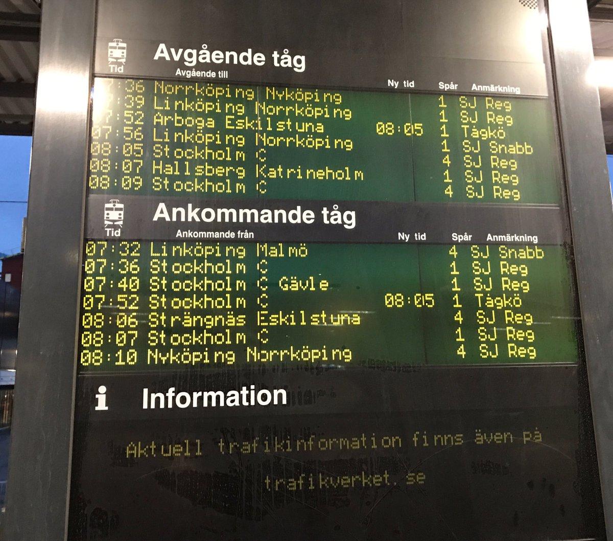 ankommande tåg stockholm södra