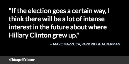 Park Ridge officials consider ways to recognize Hillary Clinton's presidential run