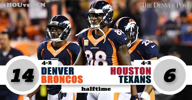 HALFTIMEBroncos 14, Texans 6HOUvsDEN Gametracker