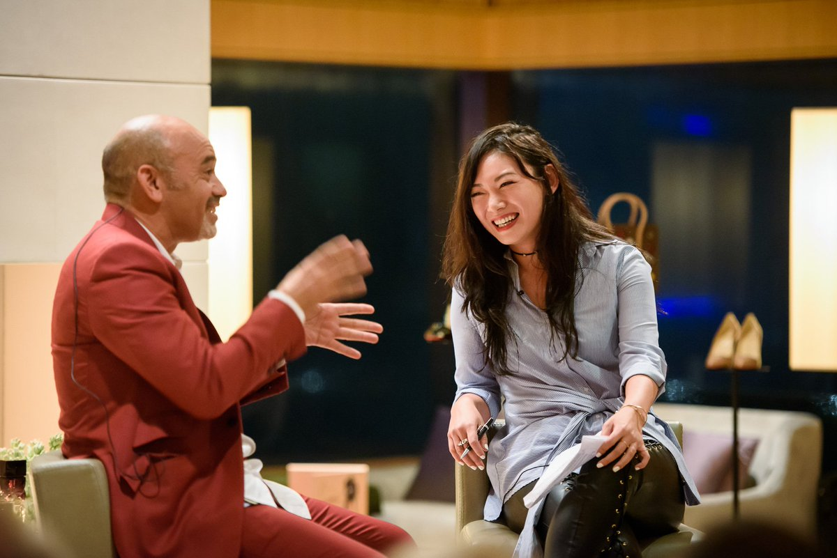 An inspiring Up Close with @LouboutinWorld last Friday at The @UpperHouse_HKG - stay tuned for the next fireplace talk.   @jingerzhanger https://t.co/f0COVAOUca