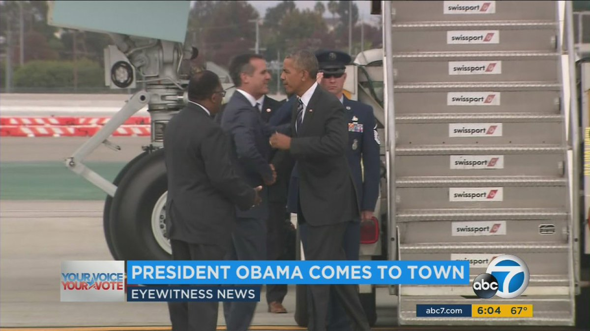 Obama in LA for JimmyKimmel appearance and Democratic fundraisers; traffic delays expected