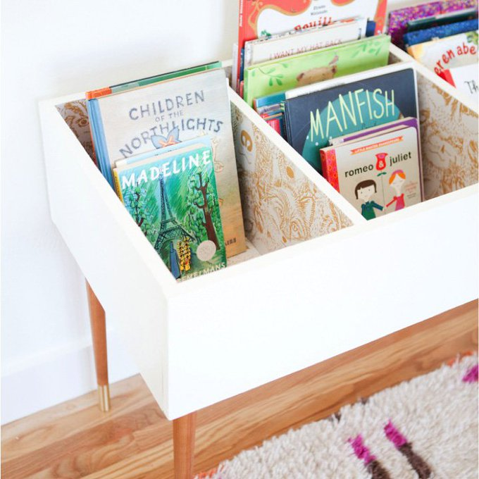Love this wonderful DIY kids book bin diy book organized