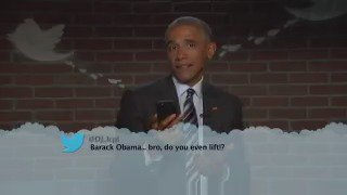 President Obama reads MeanTweets tonight on Kimmel. On ABC7 at 11:35pm
