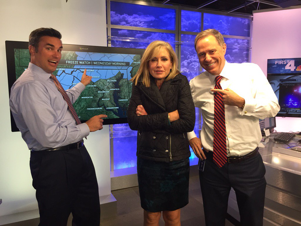 She's cold just thinking about it. @DoreenGentzler bundles up to hear @dougkammerer chilly forecast next!