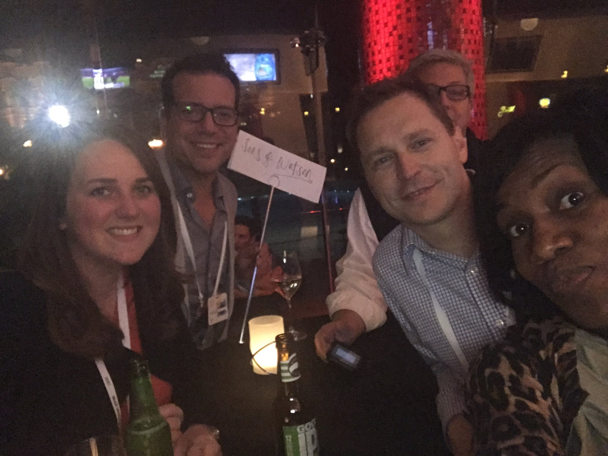Team Sons of Watson at #ibmwow trivia night!!! Pity we couldn't ask @ibmwatson for the answers!! https://t.co/lsghuf7Dy2
