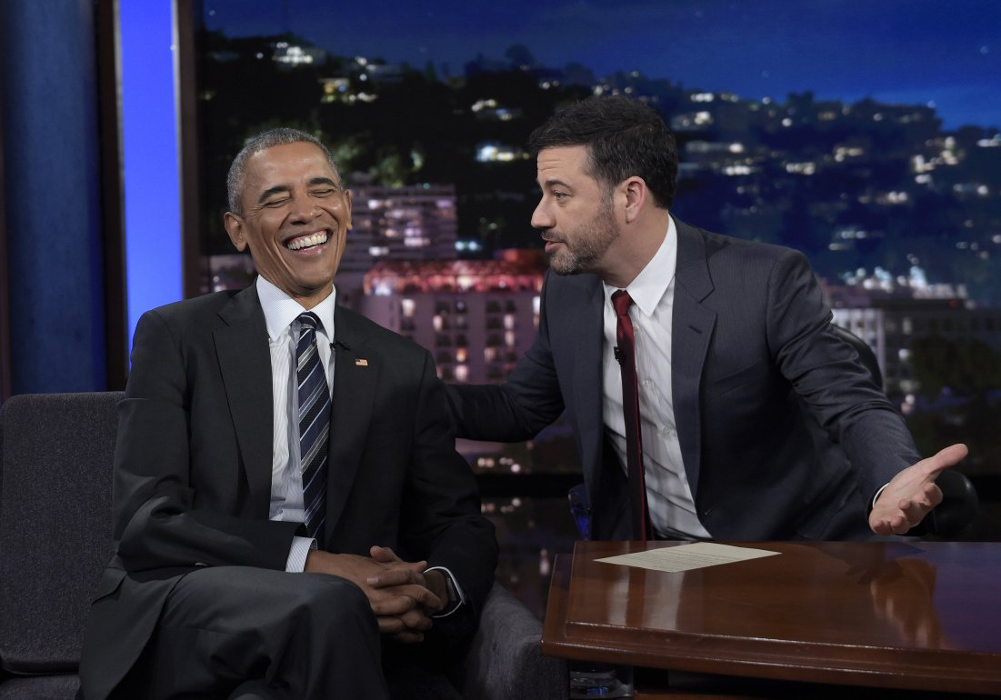 Obama reads mean tweets on Jimmy Kimmel show