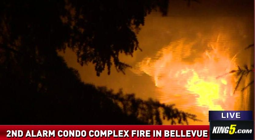 LIVE FEED: 4 hurt in Bellevue condo fire