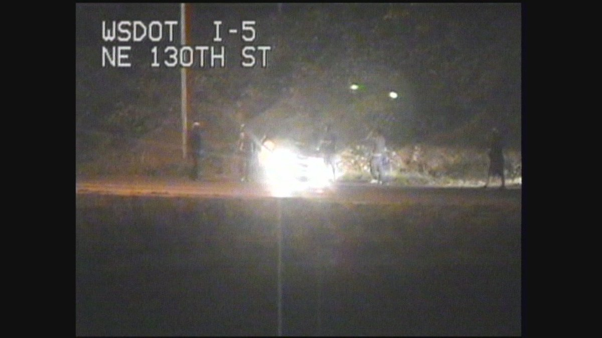 JUST IN: Rollover crash on SB I-5 onramp at NE130th St.