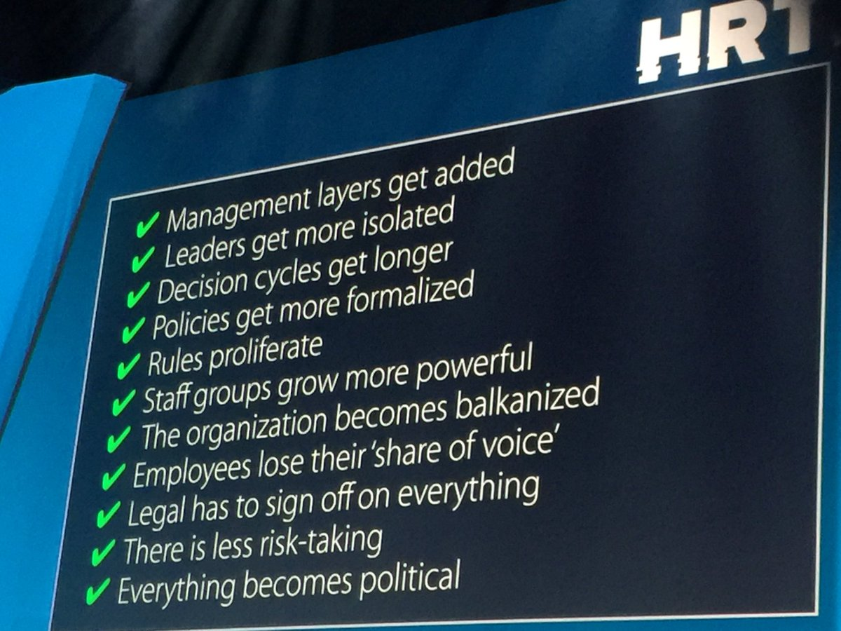 The inevitability of bureaucracy. #hrtechworld https://t.co/3XKBE2cQLf