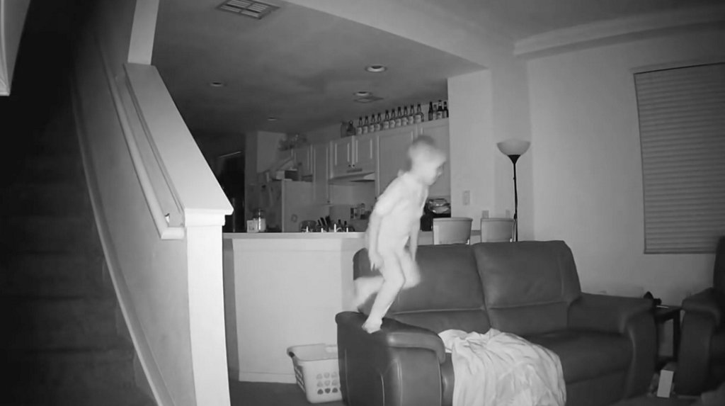 Surveillance video captures boy's 2 a.m. mischief spree