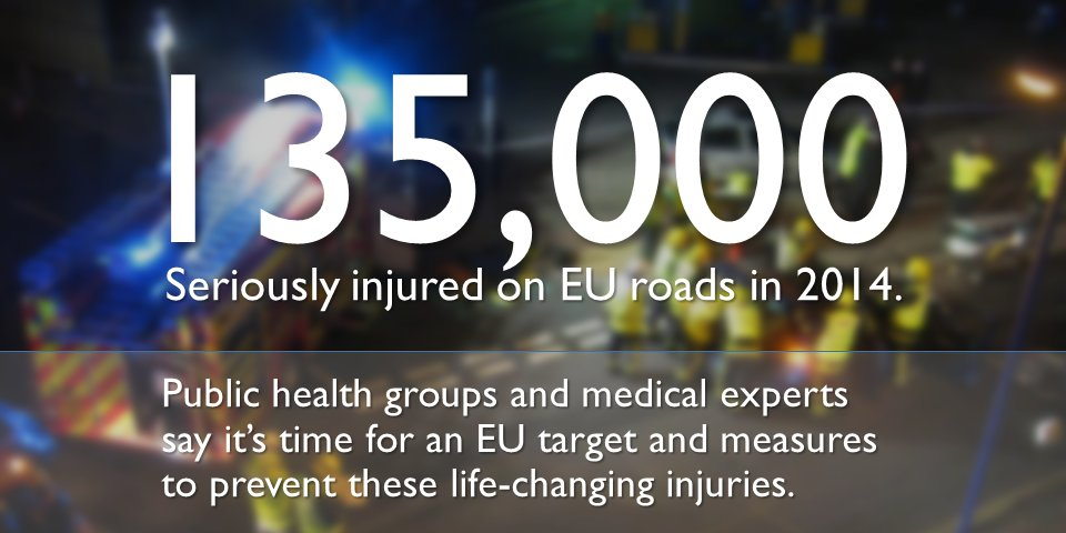 135000 seriously injured on EU roads annually. #publichealth groups calling for a target and action https://t.co/cRpmobLQHm #letsgo https://t.co/if58aGwTAN