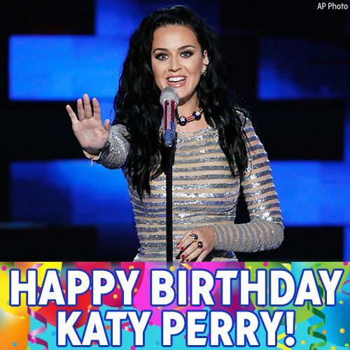 Happy birthday to pop superstar @katyperry!