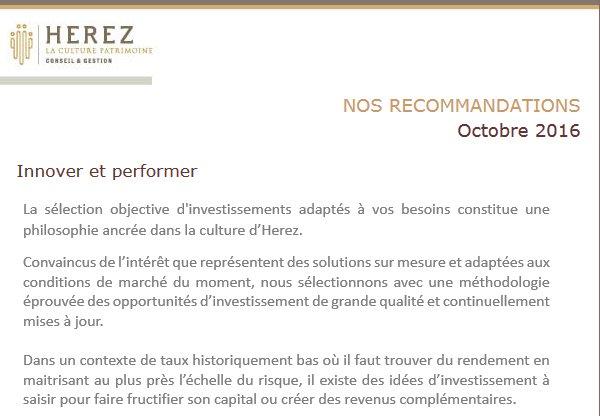 #Herez #Finance #Patrimoine Nos recommandations https:// herez.fr/fr/nos-recomma ndations … http://pic.twitter.com/RmMyMQ1YOr