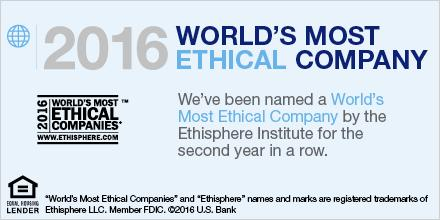 U.S. Bank is a 2016 @Ethisphere Most Ethical Company. https://t.co/4qYBvBpKa6 https://t.co/FkqaMRYecI