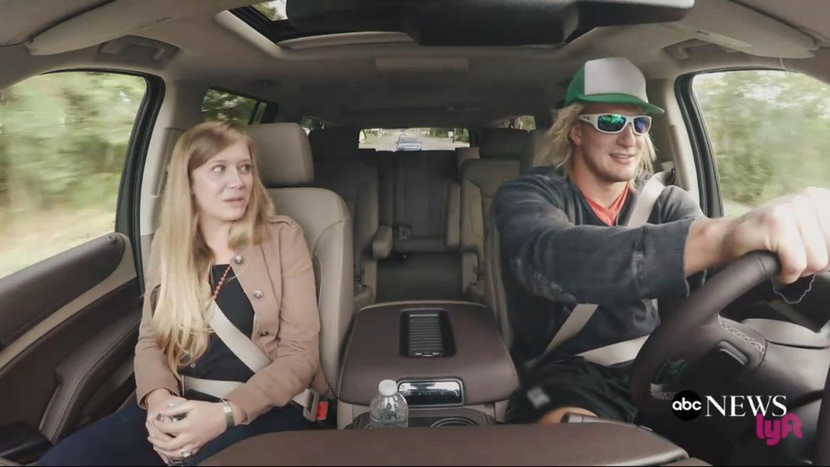 Rob Gronkowski go undercover as a Lyft driver