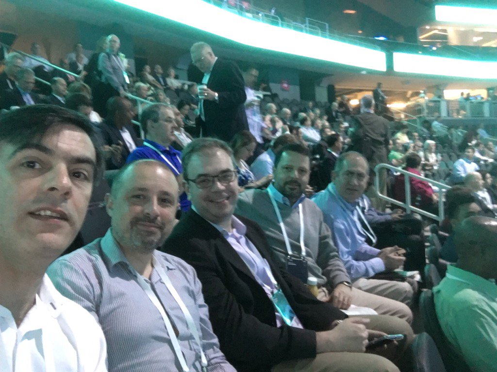 A part of Uruguayan team waiting plenary session #ibmwow @QuanamCorp https://t.co/iNvNNTd9u6