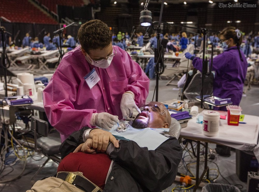 Huge, free health clinic running this week at Seattle Center