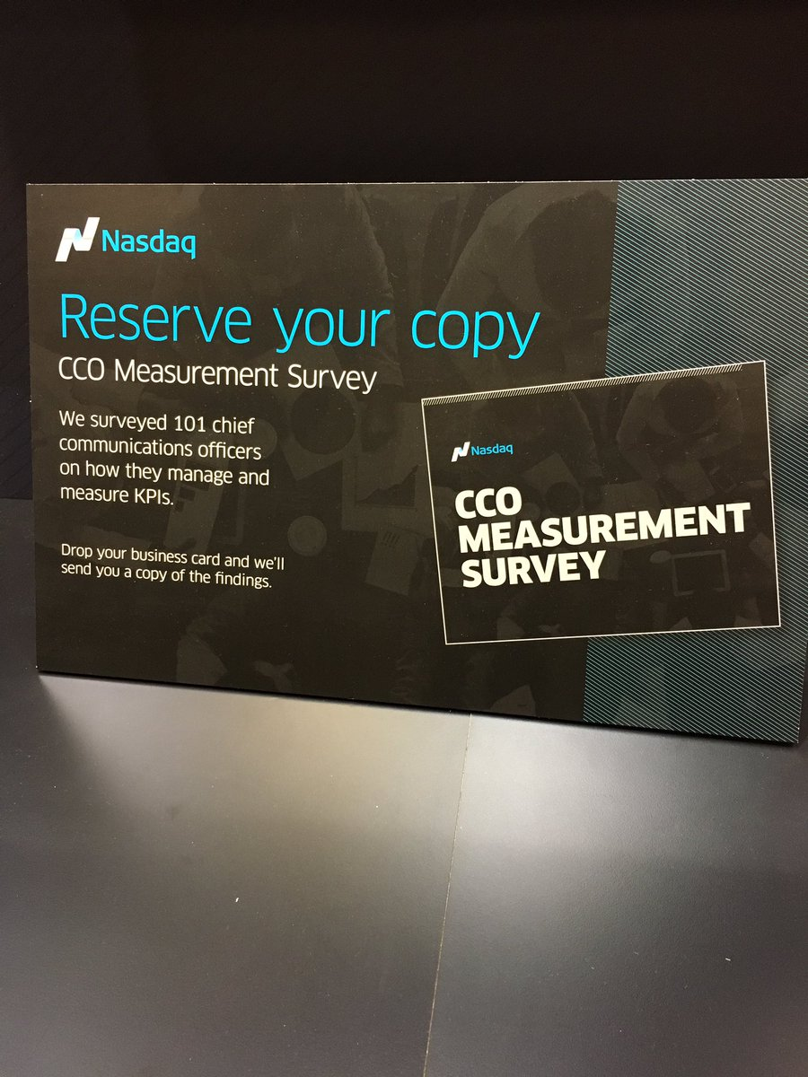 Prsa on twitter make sure you drop your business card off at the prsa on twitter make sure you drop your business card off at the mycorpsolutions nasdaq to get a copy of the cco measurement survey colourmoves