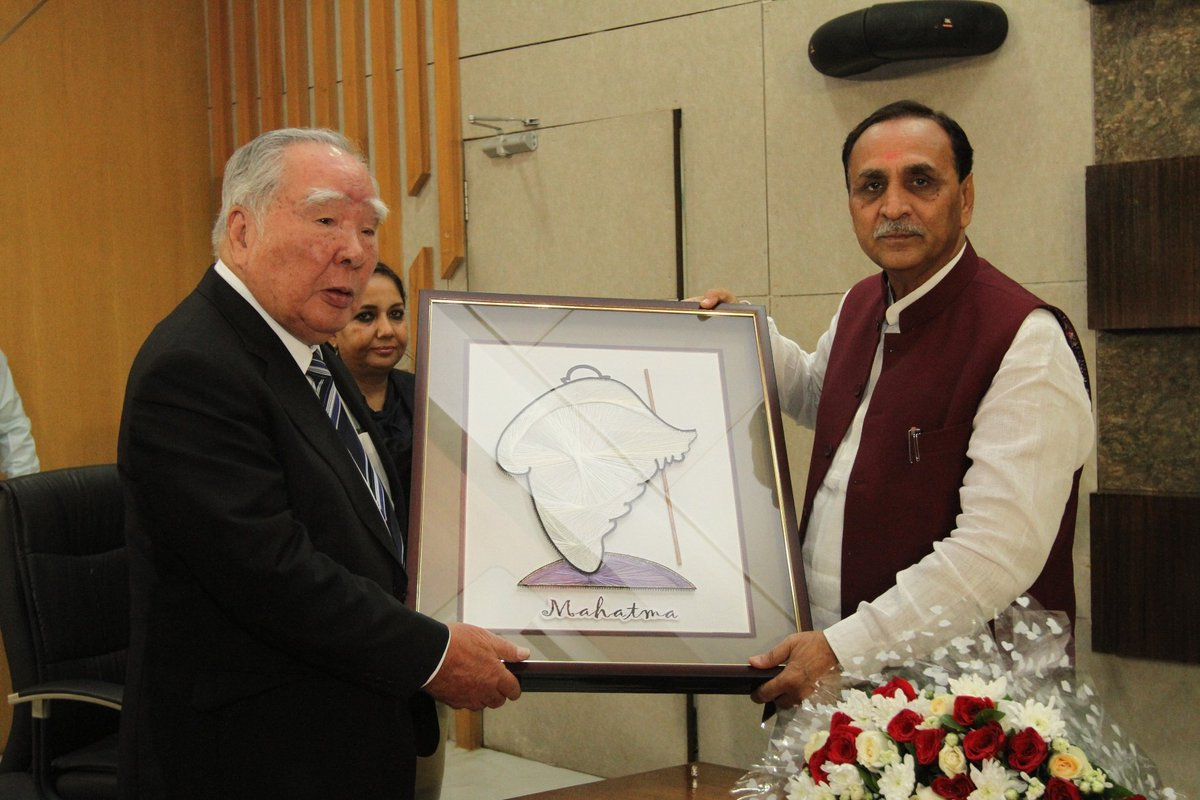 Osamu Suzuki visits Gujarat plant of Maruti, holds meeting with Chief Minister