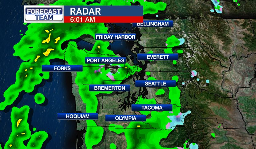 Spots of rain this morning -- but look for a partial clearing later today. komonews weather