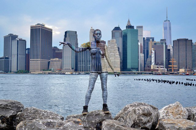 See fantastic bodypainted art of iconic NYC locations
