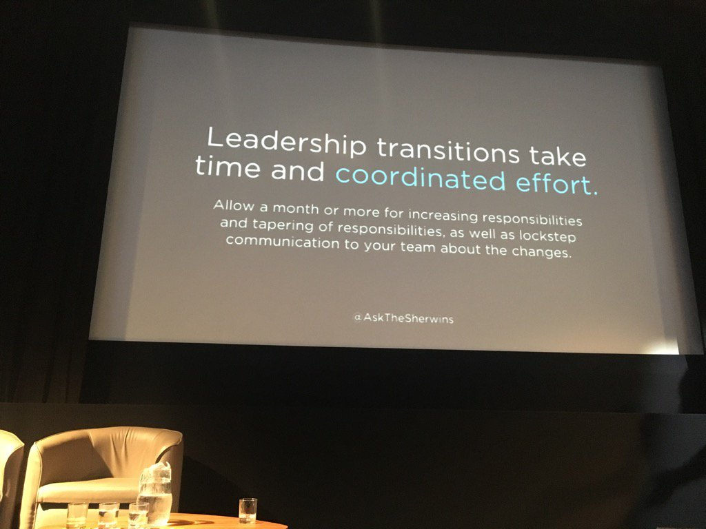 Take time to transition when you leave a role. Respect your role up until the last day. From @askthesherwins #ldconf https://t.co/0a9yHPEa6o
