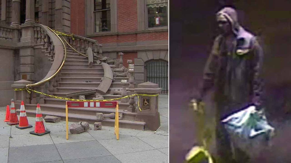 shows suspect in theft, damage to Union League staircase 6abc -