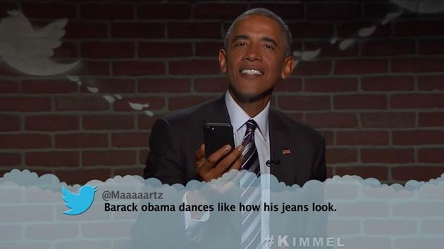 @POTUS read MeanTweets about his dance skills and more on @JimmyKimmelLive