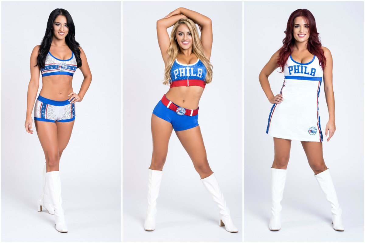 The @Sixers Dancers will debut throwback uniforms Wednesday night