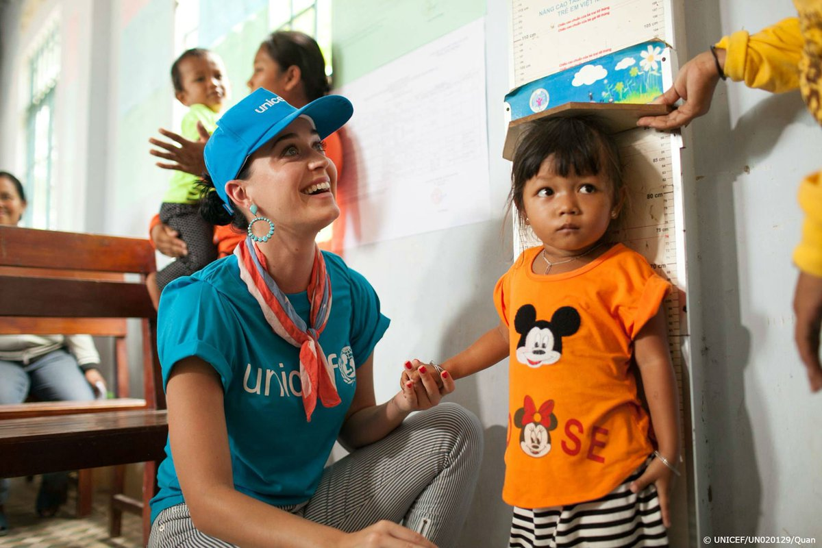 Happy birthday to our Goodwill Ambassador @katyperry! Thank you for all the work you do for children around the world.
