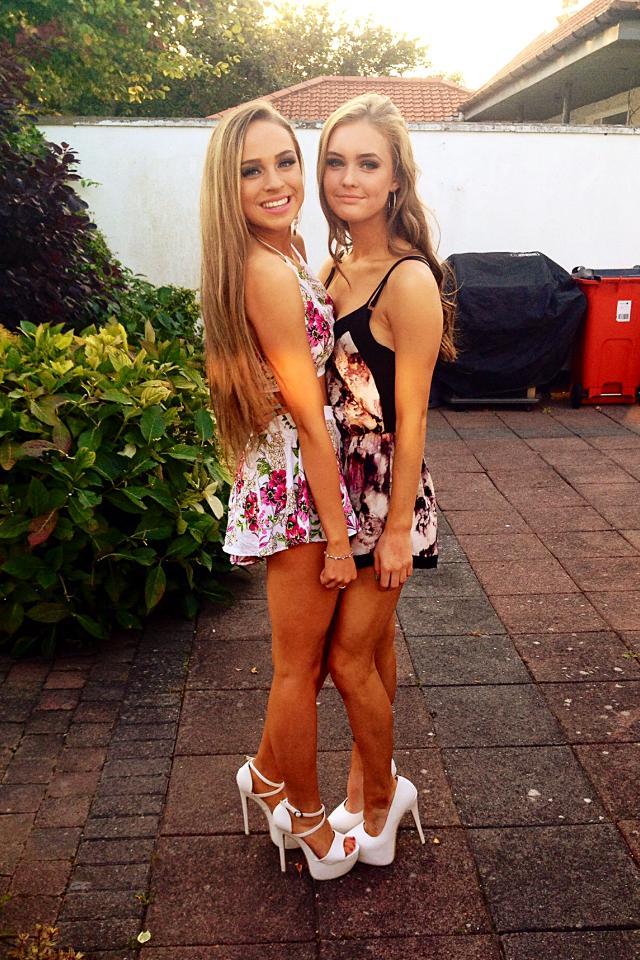Teens in heels