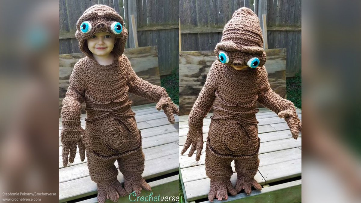 Check out this adorable 'E.T.: The Extra-Terrestrial' Halloween costume